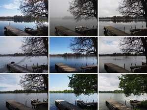 9 Monatsbilder Wesslinger See